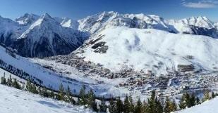 vue montagnes Courchevel